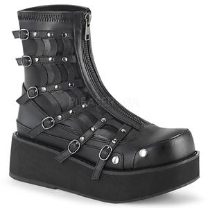Shoes - Spiderweb Gothic Platform Zipper Punk Ankle Boots
